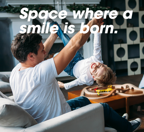 Space Where a smile is born.